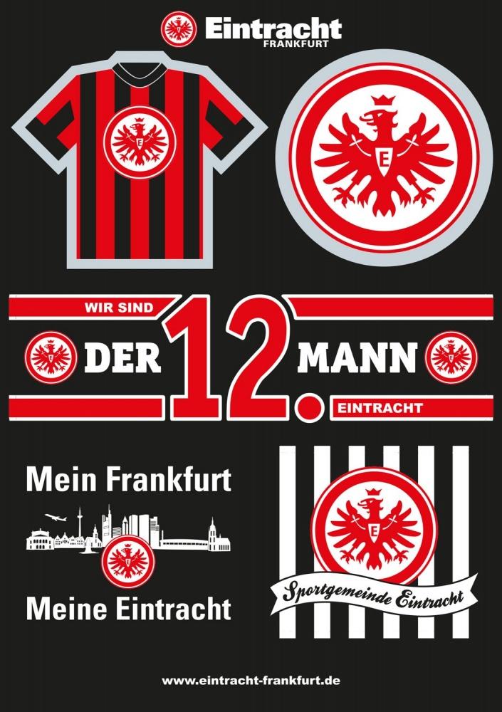 Details Zu Eintracht Frankfurt Aufkleberkarte A5 Schwarz Aufkleber Sticker Sge Plus Les