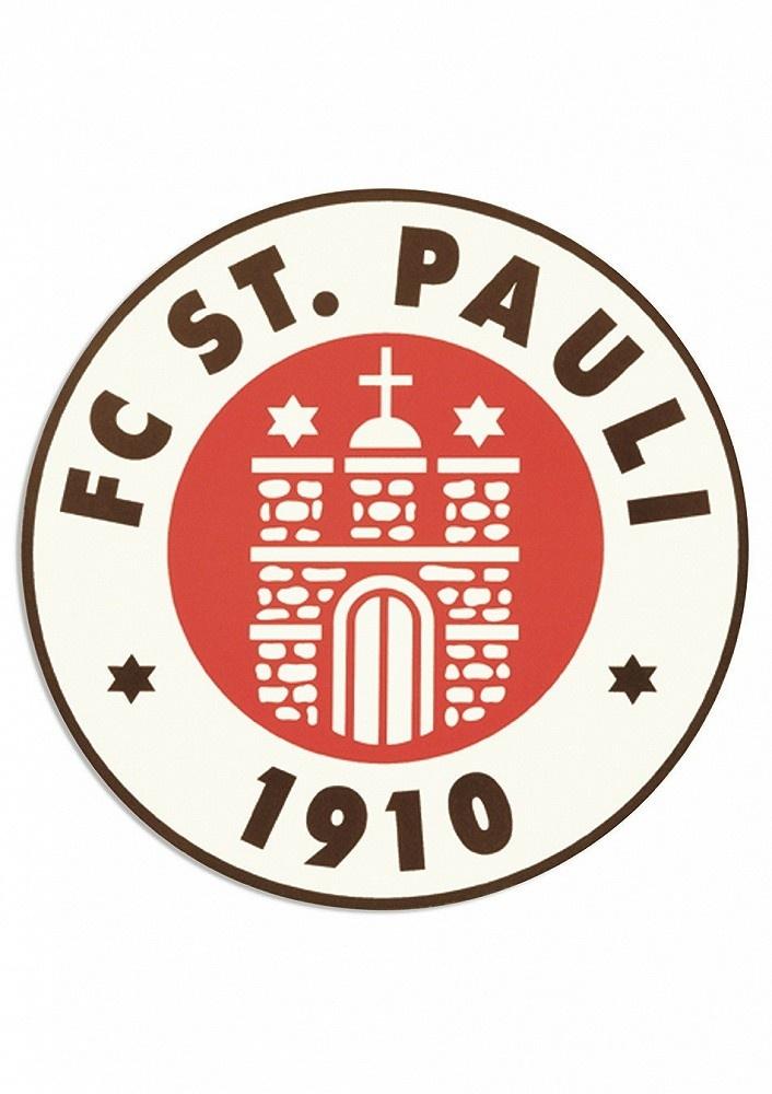 FC St Patch Logo 5 cm farbig Plus Aufkleber Fans gegen Rechts Pauli Aufn/äher