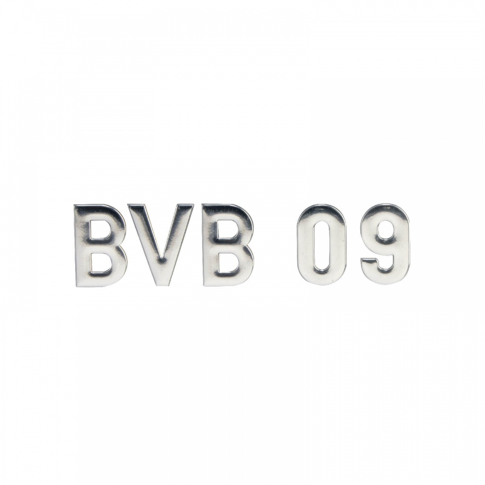 BVB Aufkleber BVB 09-Chrom-Schriftzug  Borussia Dortmund