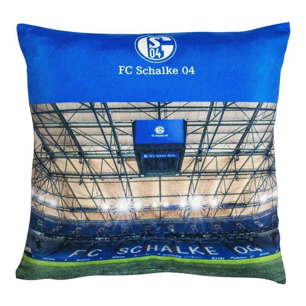 Details zu FC Schalke 04 Kissen LED Veltins Arena Zierkissen, Dekokissen S04 plus Les