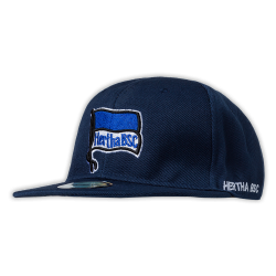 Hertha BSC Berlin Flatcap navy,  Baseballcap Logo, Cap, Schildmütze, Kappe  - plus Lesezeichen I Love Berlin