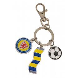 Eintracht Braunschweig Schlüsselanhänger Schal, Anhänger Logo Ball Schal, keychains - plus Lesezeichen Wir lieben Fußball