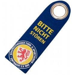 Eintracht Braunschweig Türhänger Zutritt, Türanhängerschild, Türanhänger - plus Lesezeichen Wir lieben Fußball