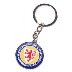 Eintracht Braunschweig Schlüsselanhänger rund, Anhänger Logo, Keychain - plus Lesezeichen Wir lieben Fußball