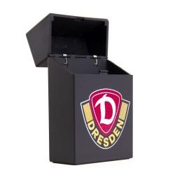 Dynamo Dresden Zigarettenbox mit Emblem, Zigarettenetui, Etui, Rubber Box SGD - plus Lesezeichen Wir lieben Fußball