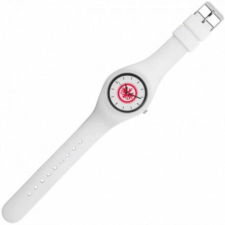 Eintracht Frankfurt Armbanduhr weiß, Uhr Silikon, Fanuhr, watch SGE - plus Lesezeichen I love Frankfurt