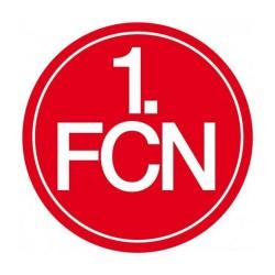 1. FC Nürnberg Autoaufkleber Logo 18 cm, Sticker, Aufkleber FCN - plus Lesezeichen Wir lieben Fußball
