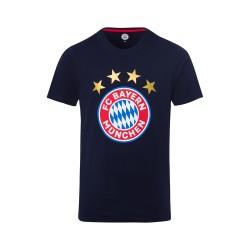 FC Bayern München T-Shirt - Logo navy  - Erwachsene FCB Shirt dunkelblau