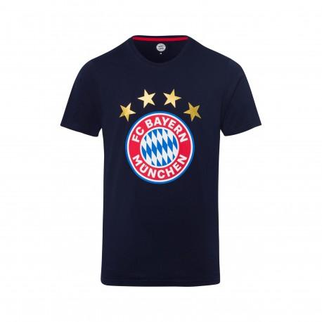 Bayern München T-Shirt - Logo navy  - Erwachsene
