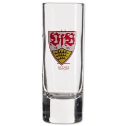 VfB Stuttgart Schnapsglas 2er-Set, Shot, Glas  - plus Lesezeichen Wir lieben Fußball