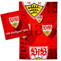 VfB Stuttgart Bettwäsche - Wappenflug - 2teilig, 135 x 200 cm - plus Lesezeichen Wir lieben Fußball