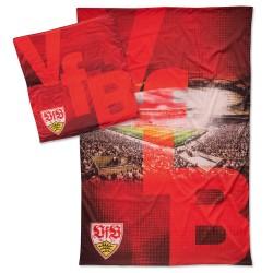 VfB Stuttgart Bettwäsche - Stadion - 2teilig, 135 x 200 cm - plus Lesezeichen Wir lieben Fußball