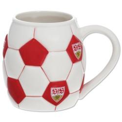 VfB Stuttgart Tasse Fußball, Kaffeetasse, Becher, Pot - plus Lesezeichen Wir lieben Fußball
