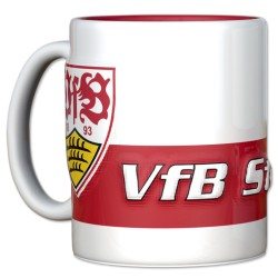 VfB Stuttgart Tasse Relief, Kaffeetasse, Kaffeebecher, coffee cup  - plus Lesezeichen Wir lieben Fußball