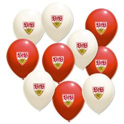 VfB Stuttgart Luftballons ( 10 Stück) Ballons, Balloons, Palloncini kompatibel FCB - plus Lesezeichen Wir lieben Fußball