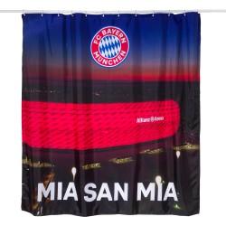 Bayern München Duschvorhang - Allianz Arena - Bad Vorhang kompatibel -  plus Lesezeichen I love München