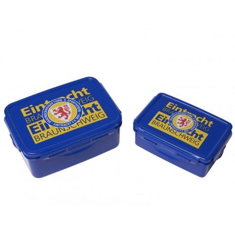 Eintracht Braunschweig Brotdose 2er-Set, Brotbüchse, Frühstücksbox BTSV - plus Lesezeichen Wir lieben Fußball