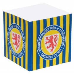 Eintracht Braunschweig Notiz Quader, Zettelblock, Notizblock, Notizwürfel BTSV - plus Lesezeichen Wir lieben Fußball