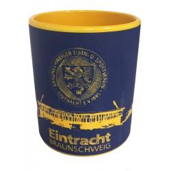 Eintracht Braunschweig Tasse Scribble , Kaffeetasse, Pott, coffee cup - plus Lesezeichen Wir lieben Fußball