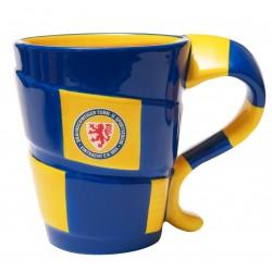 Eintracht Braunschweig Tasse Schal, Kaffeebecher, Becher, Coffee Cup BTSV - plus Lesezeichen Wir lieben Fußball
