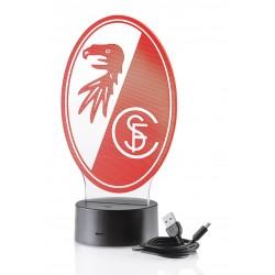 SC Freiburg LED Licht - Logo - Lampe, Leuchte - plus Lesezeichen Wir lieben Fußball