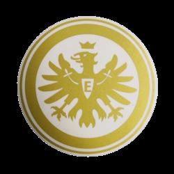 """Eintracht Frankfurt Aufkleber, Sticker,  Autoaufkleber  Logo gold 30 cm - plus gratis Lesezeichen """"I love Frankfurt"""""""
