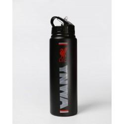FC Liverpool Trinkflasche mattschwarz 800 ml, Alu Flasche YNMA, Bottle LFC