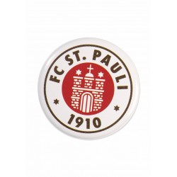 FC St. Pauli Button - Logo - Anstecker, Pin - plus Aufkleber Fans gegen Rechts