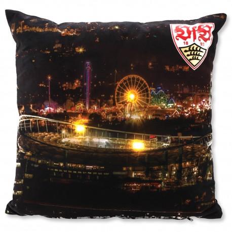 VfB Stuttgart LED Kissen - Stadion bei Nacht - Zierkissen, Dekokissen  - plus  Lesezeichen Wir lieben Fußball