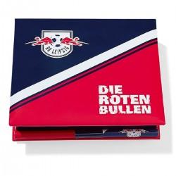 RB Leipzig Zettelbox - Die roten Bullen - mit Bleistift, Notizzettel - plus Lesezeichen Wir lieben Fussball