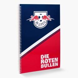 RB Leipzig Collegeblock, Schreibblock, Notizblock, Ringbuch - plus Lesezeichen Wir lieben Fußball