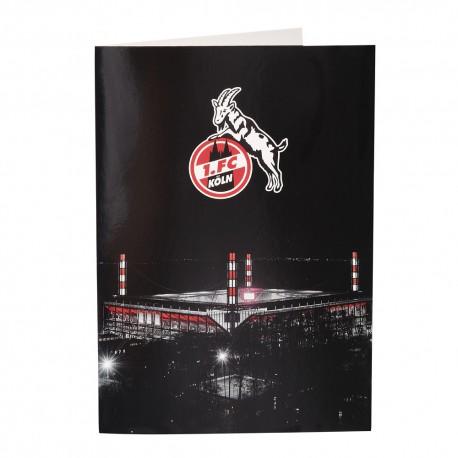 1. FC Köln Grußkarte - Logo/ Stadion - Karte, Klappkarte -  plus Lesezeichen I love Köln