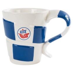 F.C. Hansa Rostock Tasse - Schal - Kaffetasse, Becher, Kaffeepott, coffee pot plus Lesezeichen Wir lieben Fußball
