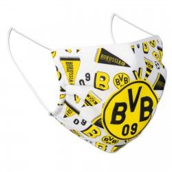Borussia Dortmund Mund-Nasen-Schutz - Design weiß - Community Maske BVB 09 (L)