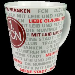 1. FC Nürnberg Tasse - Allover -