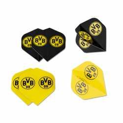 Borussia Dortmund Dartpfeil-Flights - 6er Set - Dartflights BVB 09
