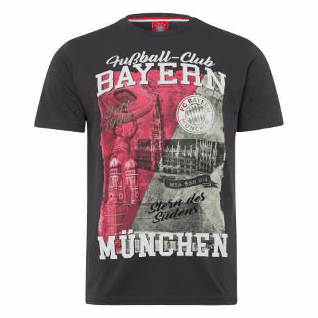 FC Bayern München T-Shirt - Heimat - FCB Shirt anthrazit div. Größen