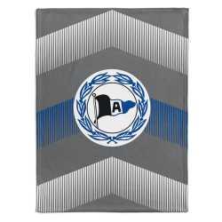 DSC Arminia Bielefeld Fleecedecke grau Logo Sparren