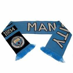 Manchester City F.C. Strickschal Logo Fanschal hellblau Schal, scarf