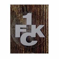 1. FC Kaiserslautern Autoaufkleber - innen silber -