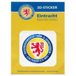 Eintracht Braunschweig Aufkleber - 3D Logo farbig