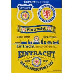 Eintracht Braunschweig Aufkleberbogen 5 Motive