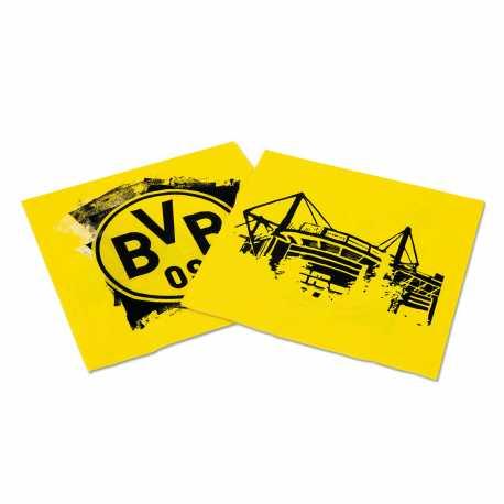 Borussia Dortmund Servietten 20 Stück Papierserviette, napkins BVB 09