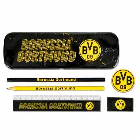 Borussia Dortmund Schreibset schwarz, 6-teilig