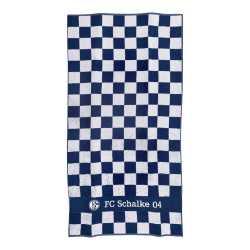FC Schalke 04 Duschtuch - Karo - Handtuch 70 x 140 cm, Badetuch S04, towel Plus Lesezeichen I love Gelsenkirchen
