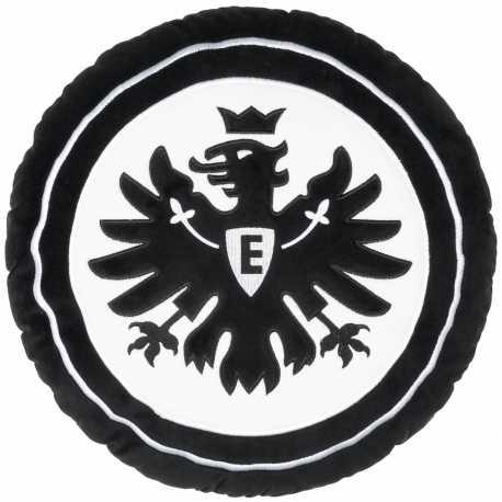 Eintracht Frankfurt Plüsch Kissen Logo rund schwarz