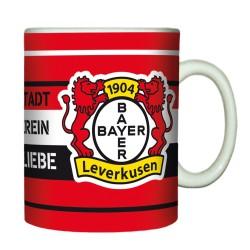 """Bayer 04 Leverkusen Tasse / Kaffeetasse """"Meine Stadt"""""""