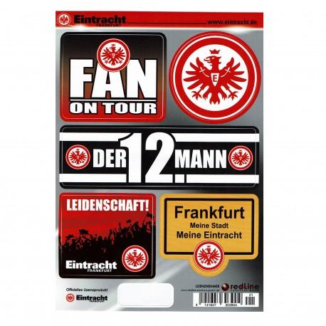 Eintracht Frankfurt Aufkleber Sticker Aufkleberkarte 5 Stück Auf Bogen Plus Gratis Lesezeichen I Love Frankfurt New Fancorner