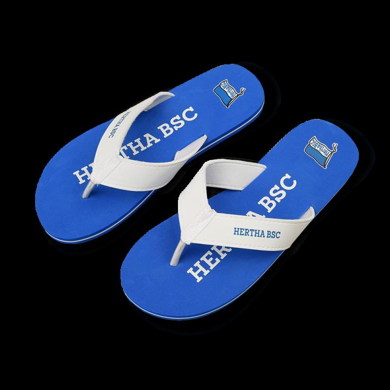 HERTHA BSC Berlin Pantoffeln Hausschuhe blau Hertha BSC Gr 45