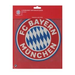 FC Bayern München Logo Tortenaufleger, Cake Toppers, essbare Torten Auflage FCB - plus Aufkleber Wir lieben Fussball
